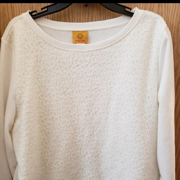 Ruby Rd. Jackets & Blazers - Beautiful White Lace Overlay Sweatshirt
